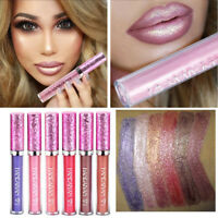 6Colors Makeup Waterproof Long Lasting Shimmer Glitter Liquid Lipstick Lip Gloss