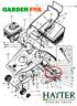 savers GENUINE Hayter Harrier 48 (1986-1998) Rear Roller Drive CHAIN 219054 247