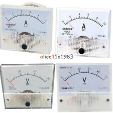 Analog Panel Amp Meter Voltmeter Gauge 85c1 Gbt7676 98 Dc 0 30v50v 0 5a10a