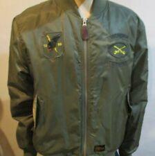 Men's SSUR Plus Army Green Brooklyn Crooklyn Bomber Flight Jacket 2XL