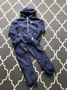 boys Nike tracksuit age 6-7 Navy Soft Shell