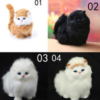 Simulation stuffed plush cats toy soft sounding Electric cat doll toys forWTUS