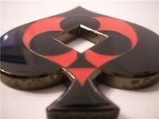 Spade Shaped Black Red Cutout Card Guard Poker Hand Protector Metal NEW