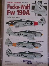 1/48 Cutting Edge Focke Wulf Fw 190A  #4 JG 1, JG 54, JG 11 Decal OOP rare