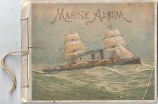 Marine Album by Piso's Cure for Consumption c1890s ~ 8 Color Plates of Ships