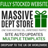 Dropship Department Store UK + World | Fully Stocked eCommerce shop 1y service