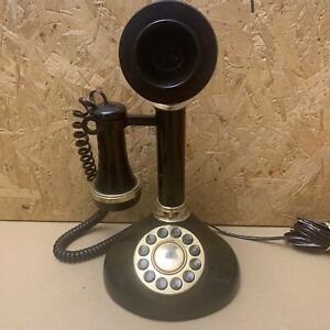 Retro 80s Betacom Speakeasy Black Push Button Candlestick Telephone & Manual