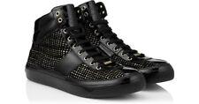 NEW!! Jimmy Choo 'Belgravia' Hi Top Sneaker- Black- Size 7 US/ 40 EU $780 (B17)