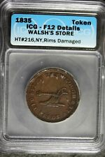 1835 - Icg F12 Details Walsh'S Store Civil War Token! #B23877