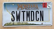 """MONTANA VANITY LICENSE PLATE """" SWTMDCN """" SWEET MEDICINE DR MD RX PHARMACY"""