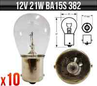 10 x 382 STOP TAIL FLASHER 12V 21W SCC BA15  BRAKE LIGHT INDICATOR  CAR BULBS