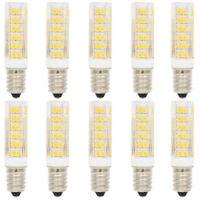 10X E14 Dimmbar LED Lampe Birne Leuchtmittel 3000K Warmweiß 7W mit 76 SMD 2835