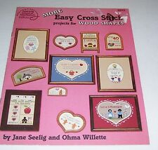 ASON PATTERN LEAFLET BOOK COUNTED CROSS STITCH FOR WOOD SHAPES 8810 OOP 1987
