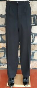 """Vintage Tuxedo Trousers, Black, Wool, button fly, size 33"""""""