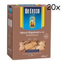 20x Pasta De Cecco mezzi rigatoni integrali 26 Vollkorn italienisch Nudeln 500 g