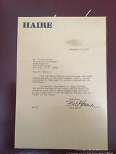 Bill Haire Fashion Designer Signed Letter to Lord & Taylor CEO