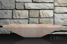 Rectagular Polished  Stone Pink Travertine  Sink