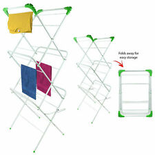 3 Tier Clothes Horse Airer Laundry Dryer Concertina Drying Rack Indoor Outdoor