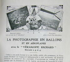 CATALOGUE APPAREILS DE MESURES ET DE CONTROLE LOCOMOTION AERIENNE, 1915