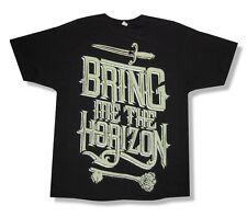 "BRING ME THE HORIZON - ""SWORDS"" JUMBO LOGO BLACK T-SHIRT - NEW ADULT X-LARGE XL"