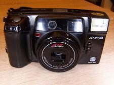 Minolta AF zoom m90 MOTORE ELETTRICO Macro Zoom Fotocamera con Flash analogico vintage