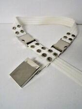 AX Armani Men's White Stylish 100% Polypropylene Belt Size Small EUC
