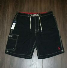 NWT Polo Board Shorts SIZE SMALL Black MSRP 65.00