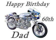 Ducati, Motorbike Personalised Hand Made Printed Card, any name, age, relation