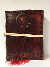 Handmade Leather Book of Shadows Journal ~Handmade Paper ~ Brown Goddess Design