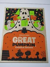 IT'S THE GREAT PUMPKIN CHARLIE BROWN by Michael De Pippo SCREEN PRINT ON WOOD