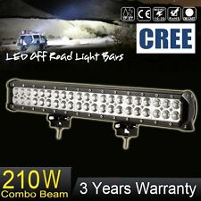 "20"" inch 210W CREE LED Light Bar Spot Flood Combo Off road Driving Work 12V 24V"