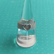 "Tiffany & Co. ""Somerset"" Heart Flexible Mesh Band Ring Sterling Silver Size 8.5"