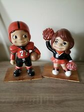 Football or Bagpipes Statue Figure Smiley Face Ceramic