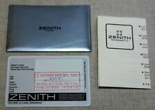 Zenith vintage kit plastic wallet papers and warranty card blank 1985