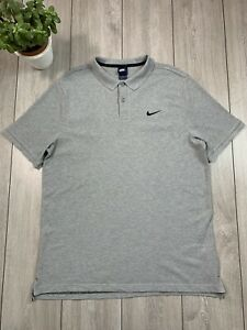 NIKE Mens Polo Shirt Top   XL   Grey