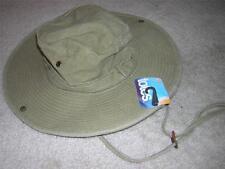 TOTES Weather & UV Protective 100% Cotton Khaki Women's Bucket Hat Sz L/XL NWT