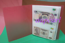 100 Banknotes 30 countries paper money with logo flags Collections book Album