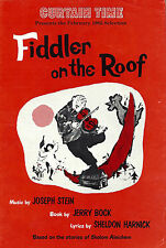 "Bock & Harnick ""FIDDLER ON THE ROOF"" Herschel Bernardi 1982 Book Club Flyer"