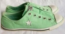 RARE CONVERSE Chuck Taylor * Slip On * Shoes Sneakers Mint Green Womens Size 9