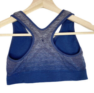 Smartwool PhD Wool Seamless Racerback Sport Bra Womens Small Blue