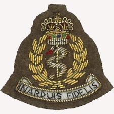 OFFICIEL RAMC kaki fil brodé insigne de CASQUETTE (Royal armée MEDICAL CORPS