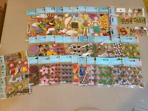 40 Packages Of Jolee's Scrapbooking Stickers All Different!