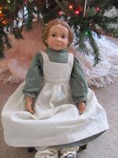 """Vintage 22"""" Tall Sarah Folk-Americana Porcelain And Cloth Body Doll"""