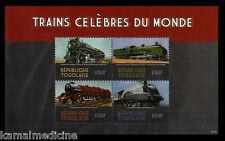 Togo 2014 MNH SS, Famous Trains of World, Locomotive Passager Railways - R11