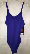 Capezio 1469 Women's Large (10-12) Blue ABT Camisole Pinch Front V-Back Leotard