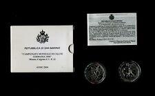 5-10 euro argento San Marino FDC 2004«CAMPIONATO MONDIALE CALCIO GERMANIA 2006»
