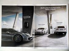 PUBLICITE-ADVERTISING :  PORSCHE Hybrid,Panamera,Cayenne,918 Spyder [4page] 2014