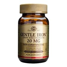 Solgar- Gentle IRON 20mg 90 Veg.Caps improves immunity & body's energy levels