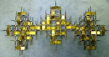 Large Ron Schmidt Brutalist Metal Wall Sculpture