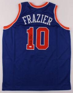 Walt Frazier Signed New York Knicks Jersey (JSA COA) 2×NBA Champion (1970,1973)